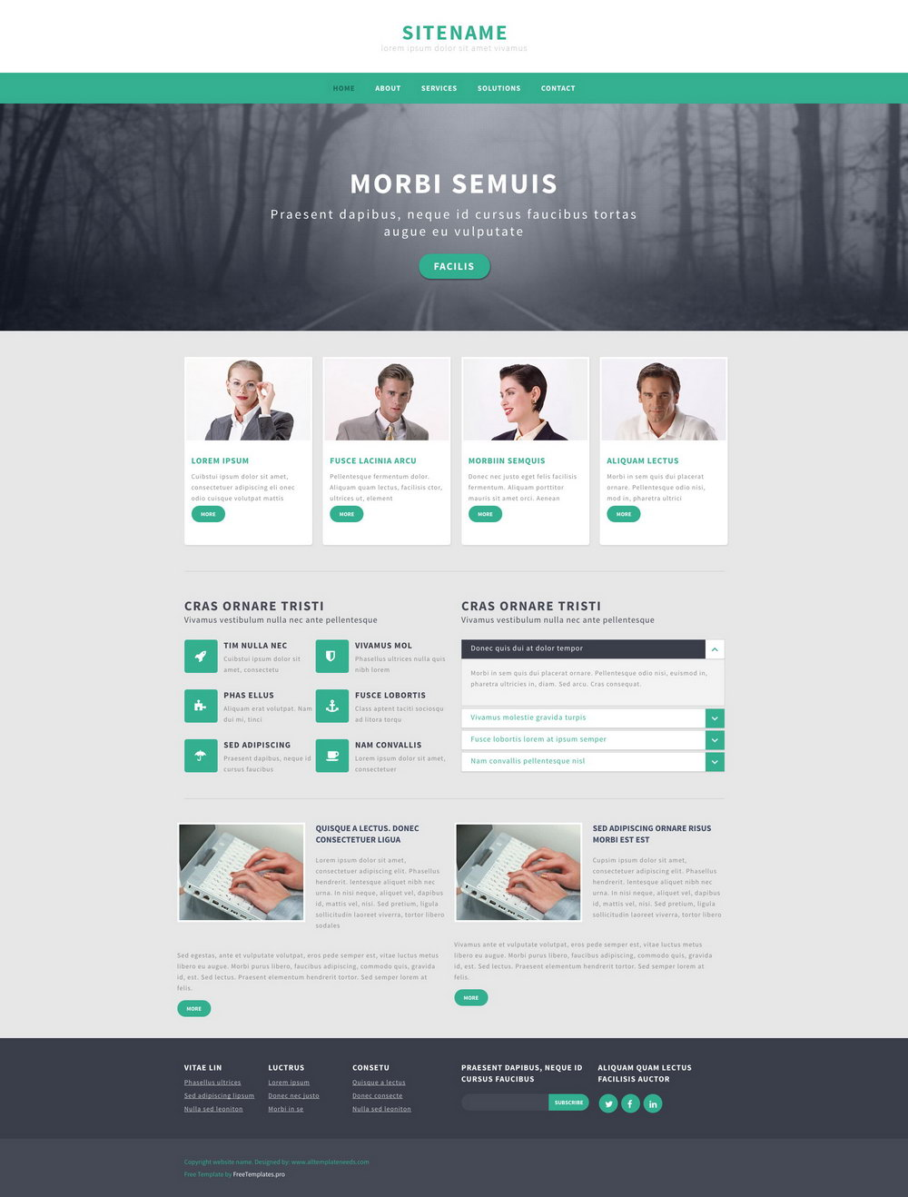 Responsive Wordpress Website Templates