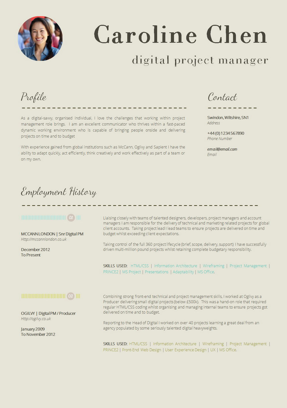 Resume Template Macbook Pro