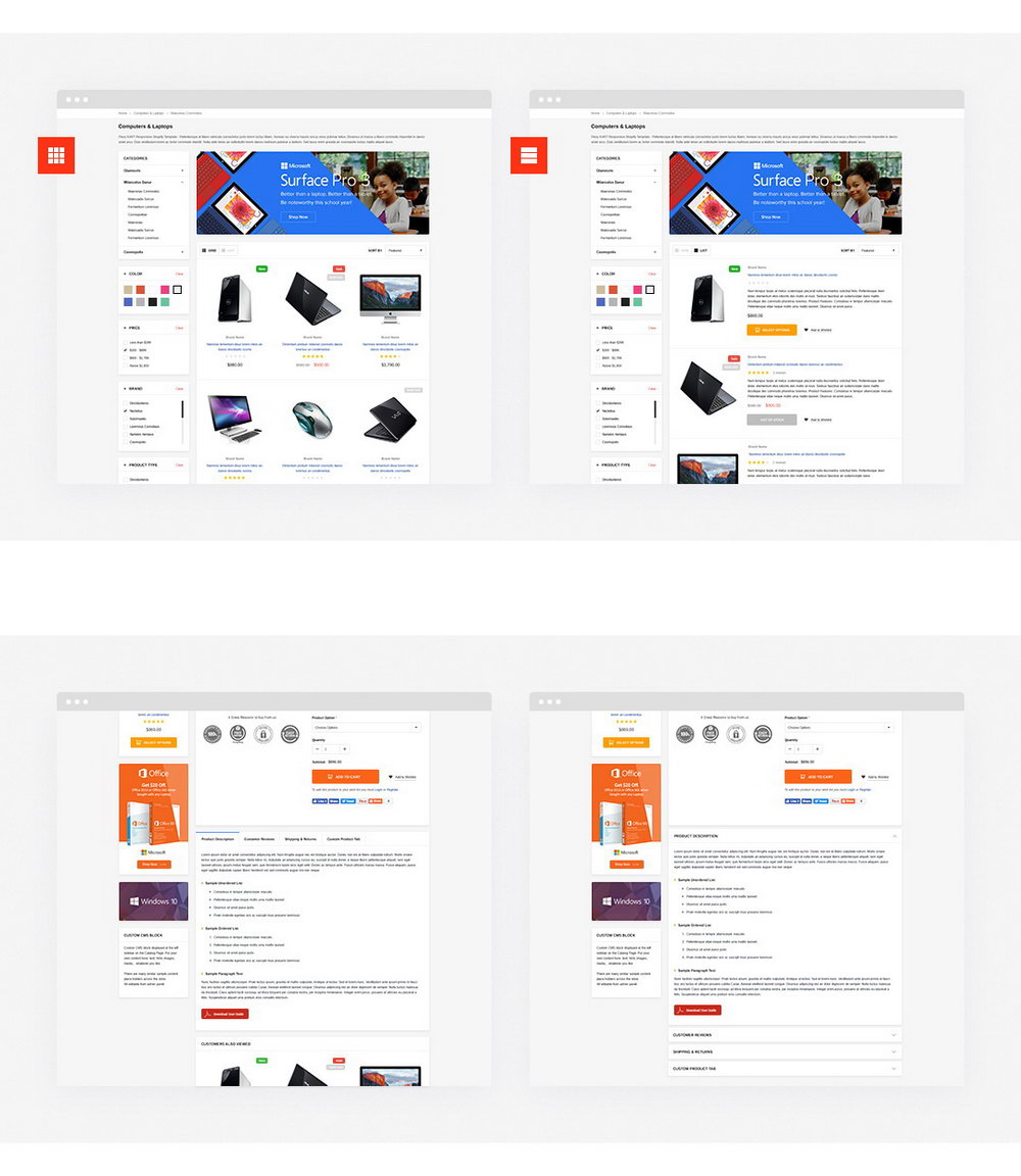 Shopify Templates Responsive