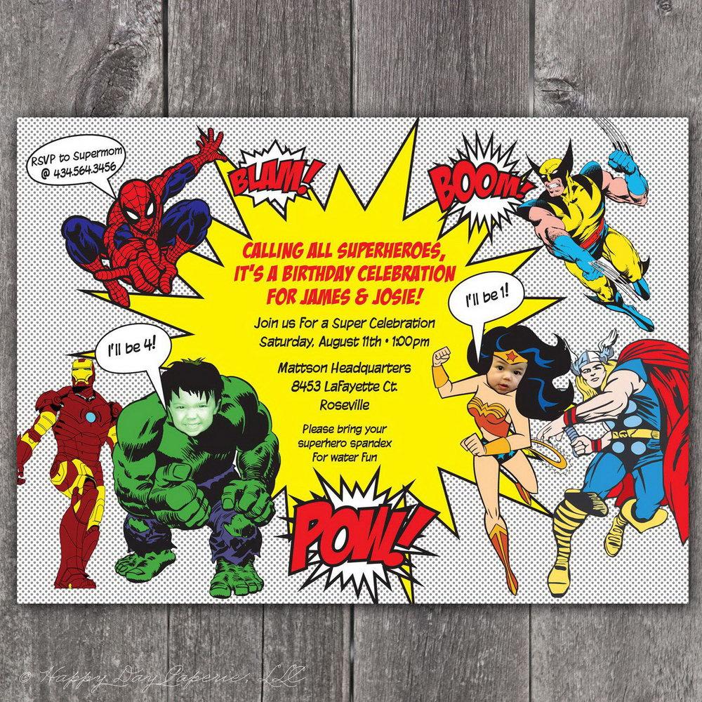 Superhero Invitation Template Free Download