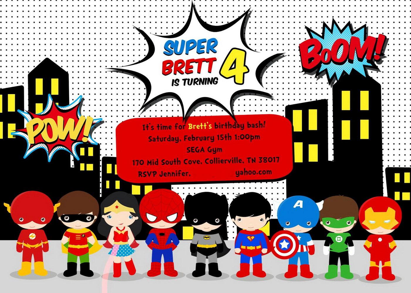 Superhero Invitation Template