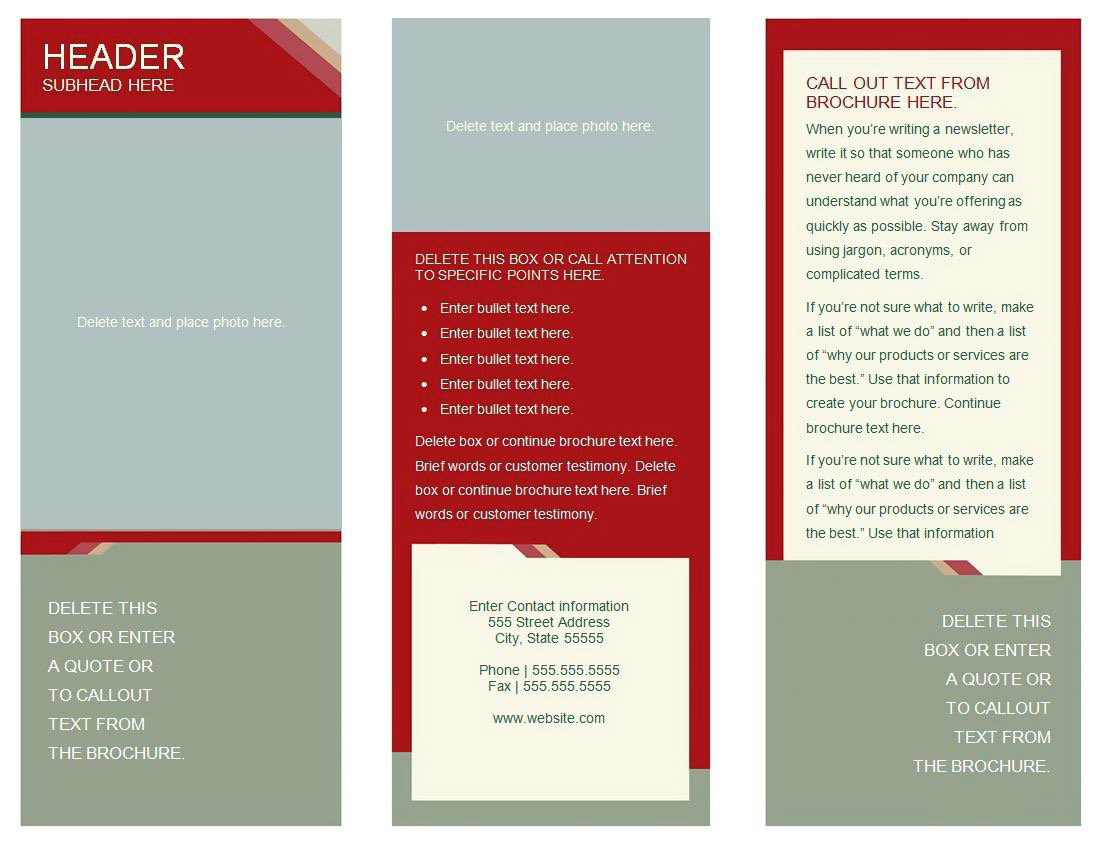 Templates For Brochures Google Docs