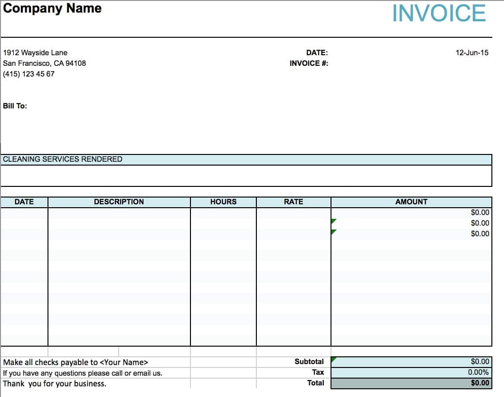 Templates For Invoices And Quotes