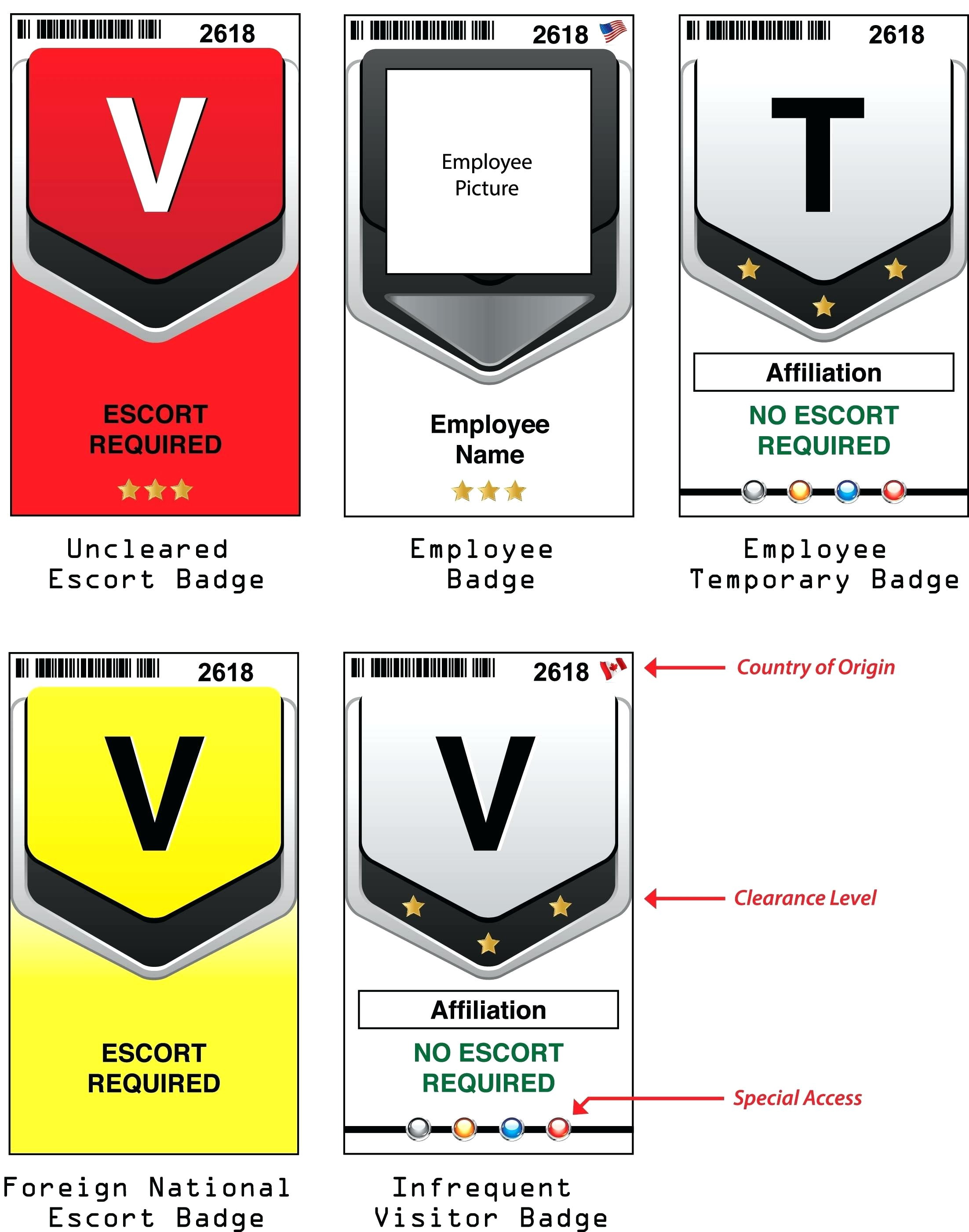 Visitor Badge Template Excel