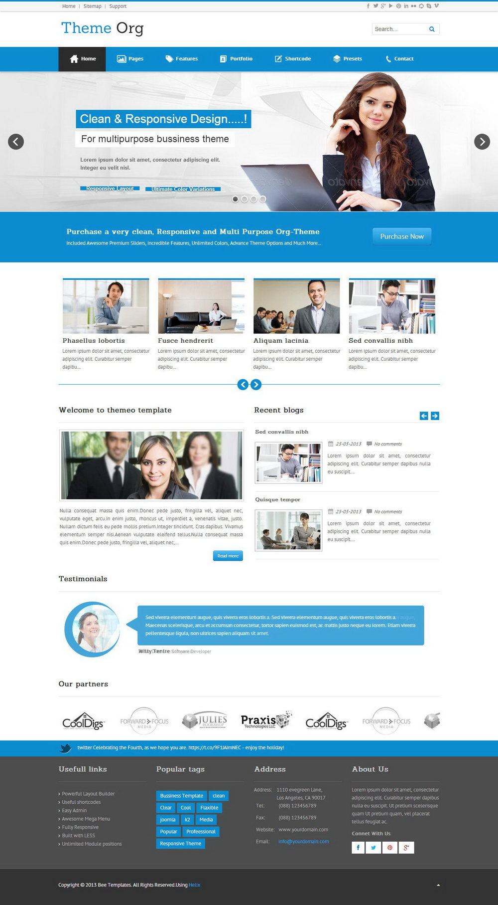Wordpress Templates Responsive