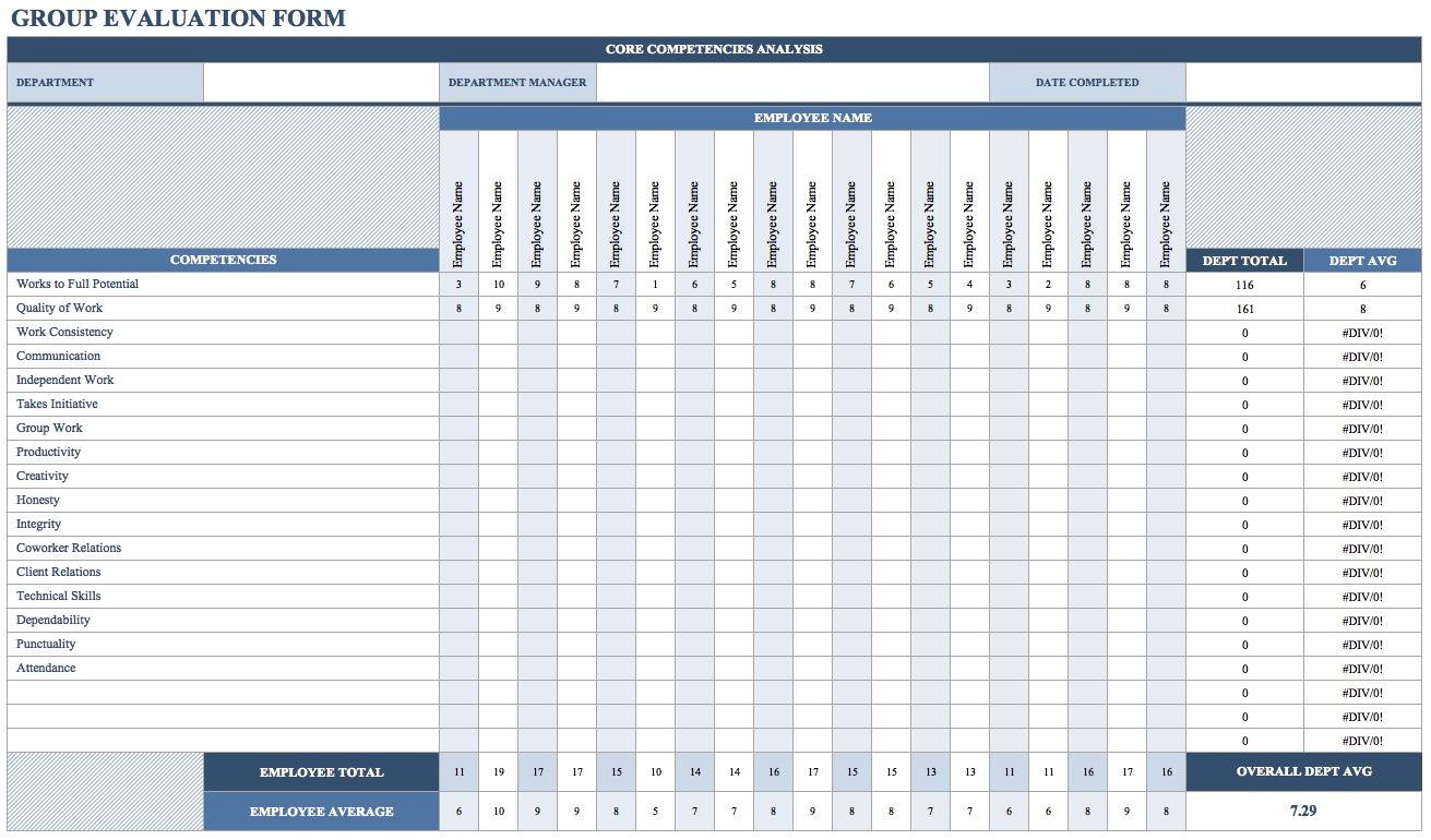 360 Feedback Excel Template