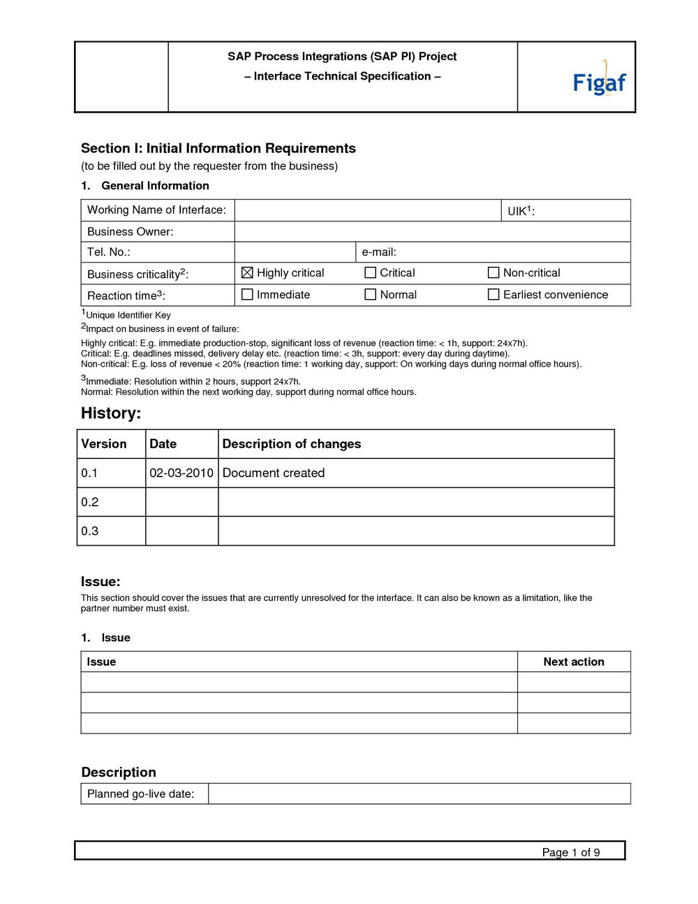 Software requirements specification template word