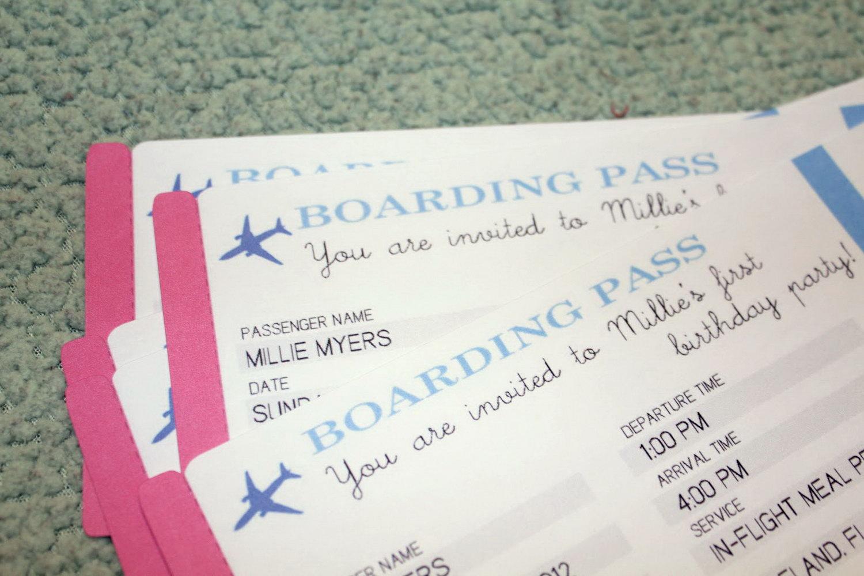 Airplane Birthday Invitation Template