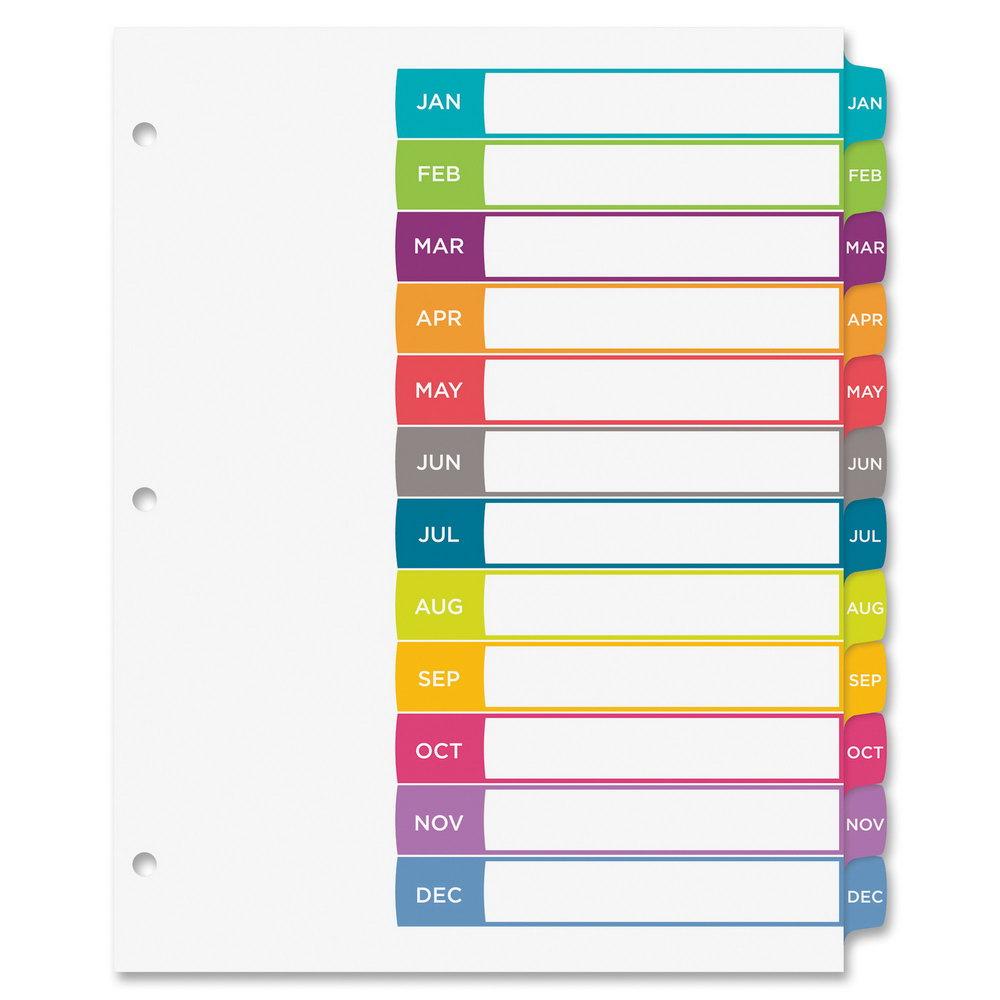 Avery Ready Index 31 Tab Template