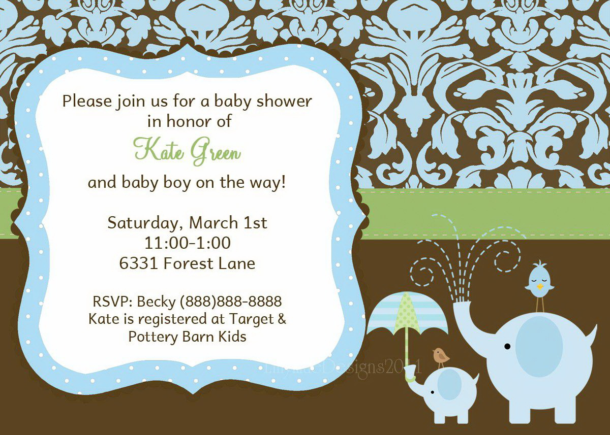 Baby Shower Invite Templates Free