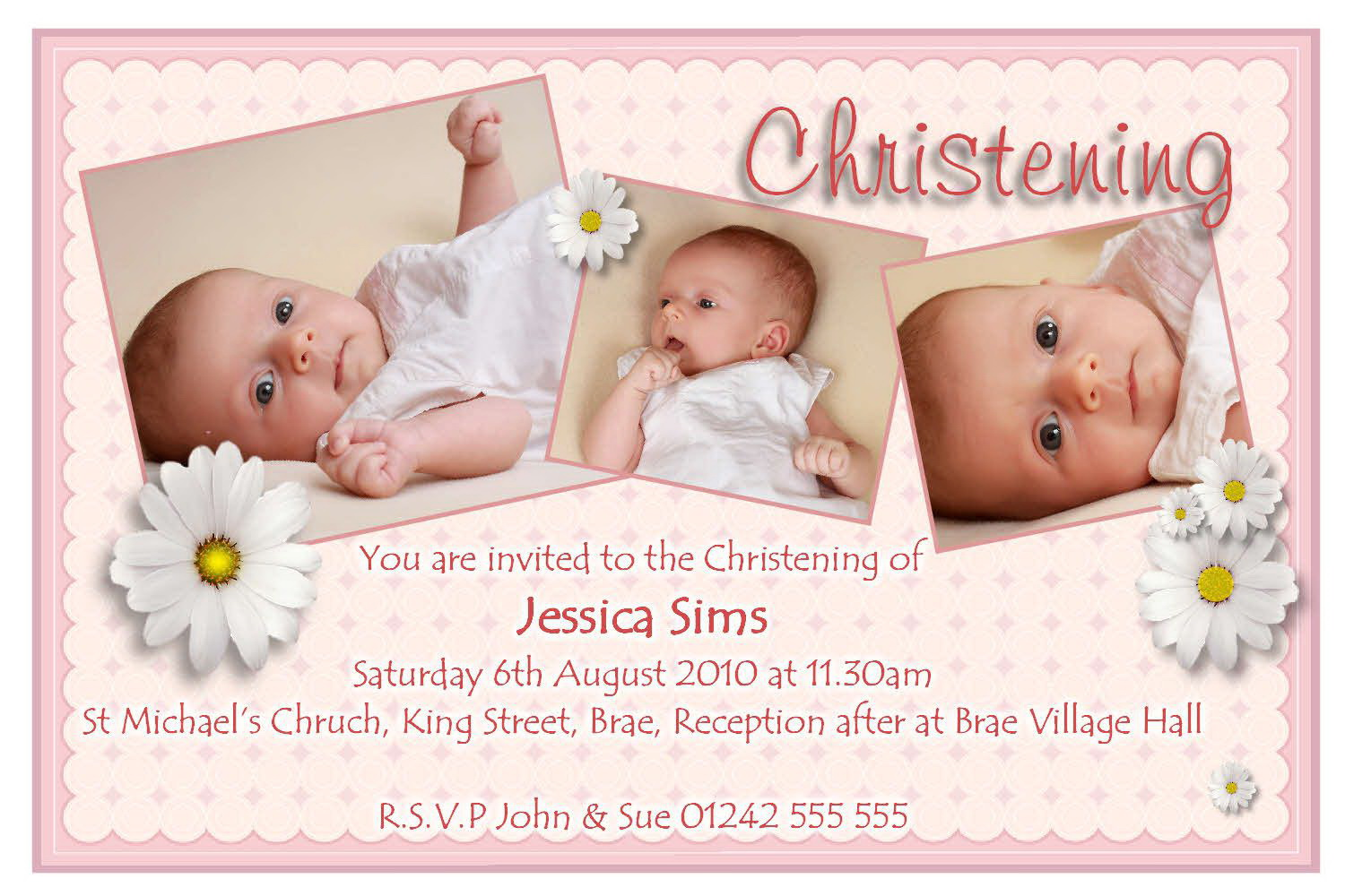 Baptism Announcement Template