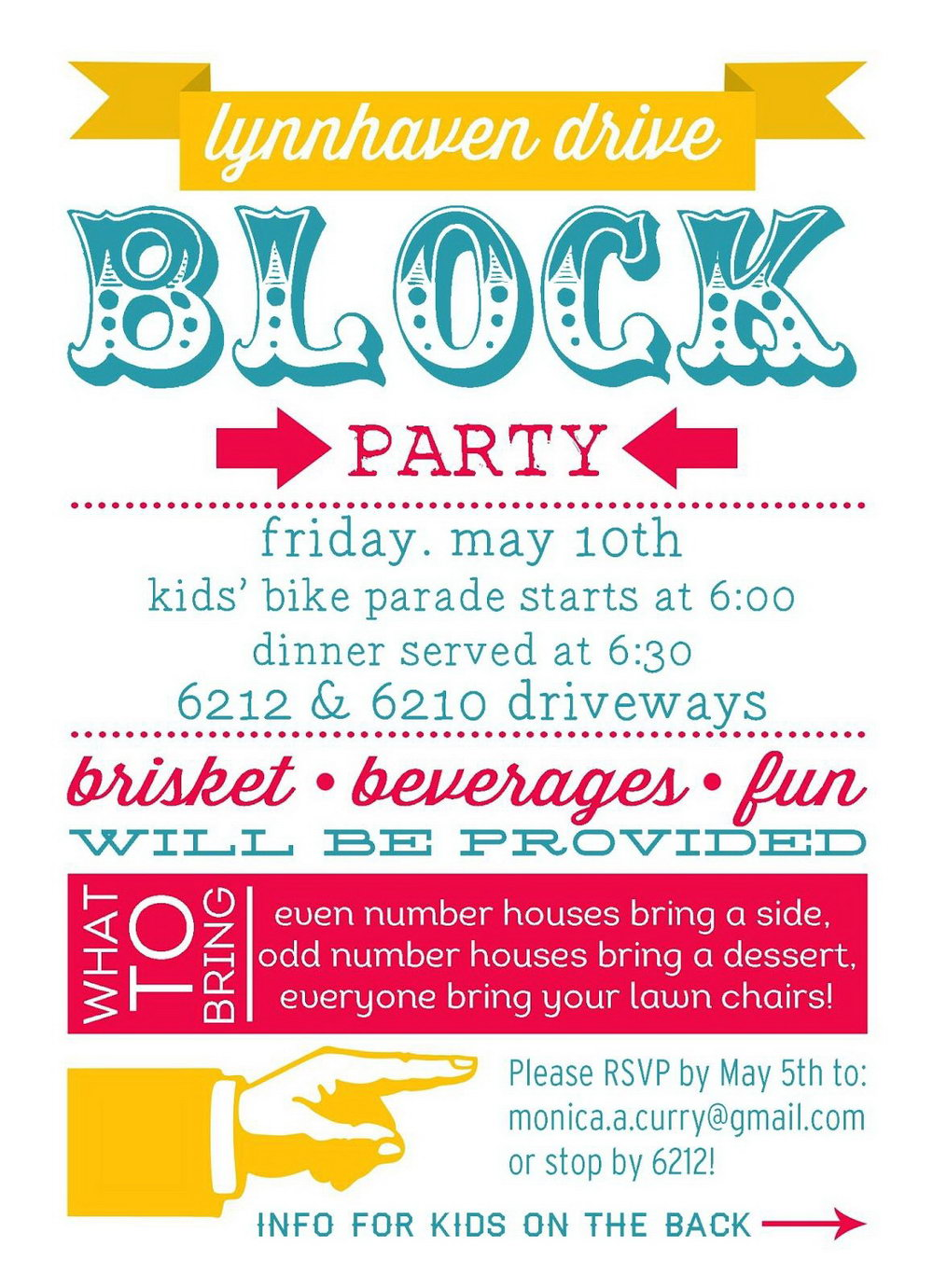 Block Party Template Flyers Free