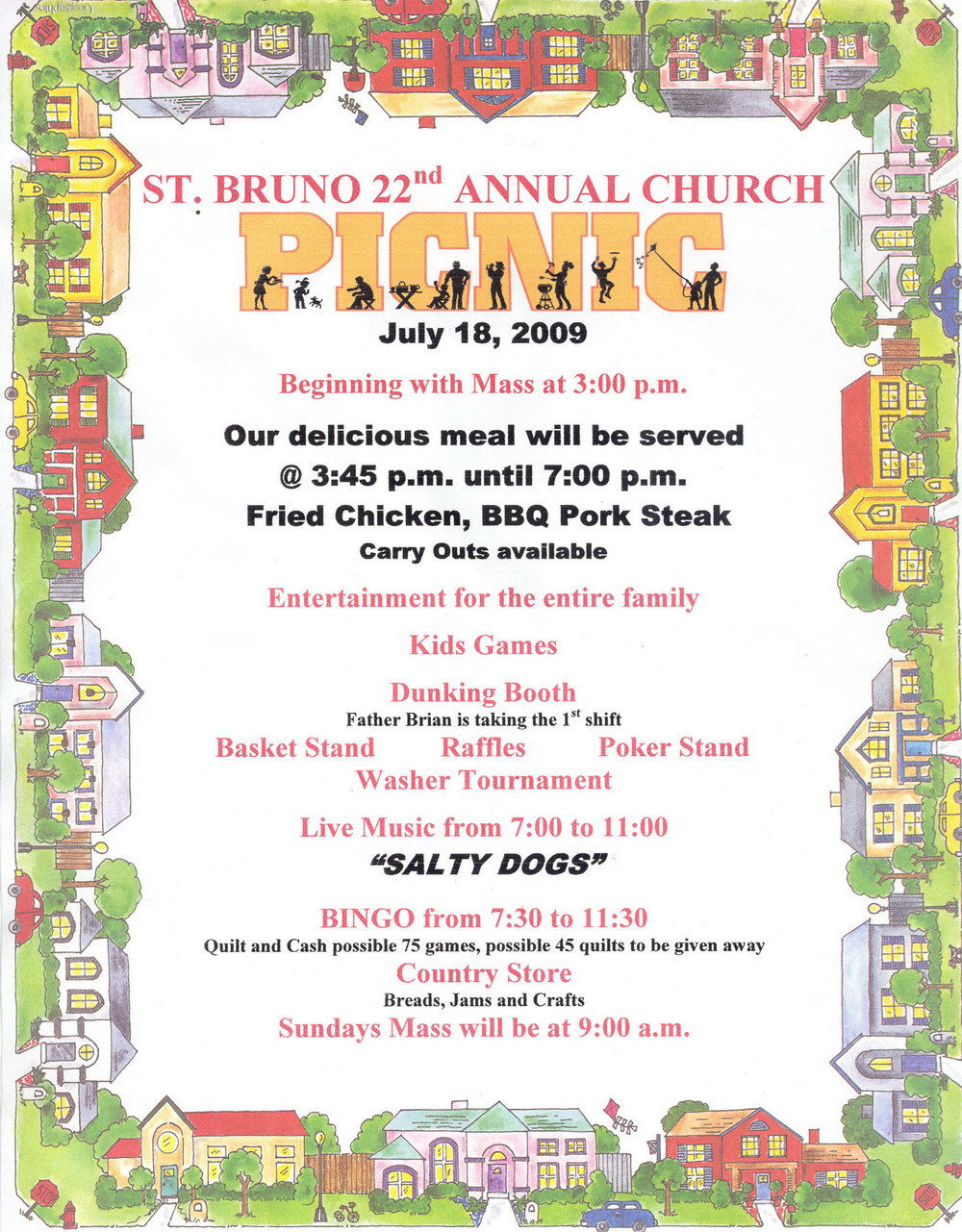 Church Picnic Flyer Templates