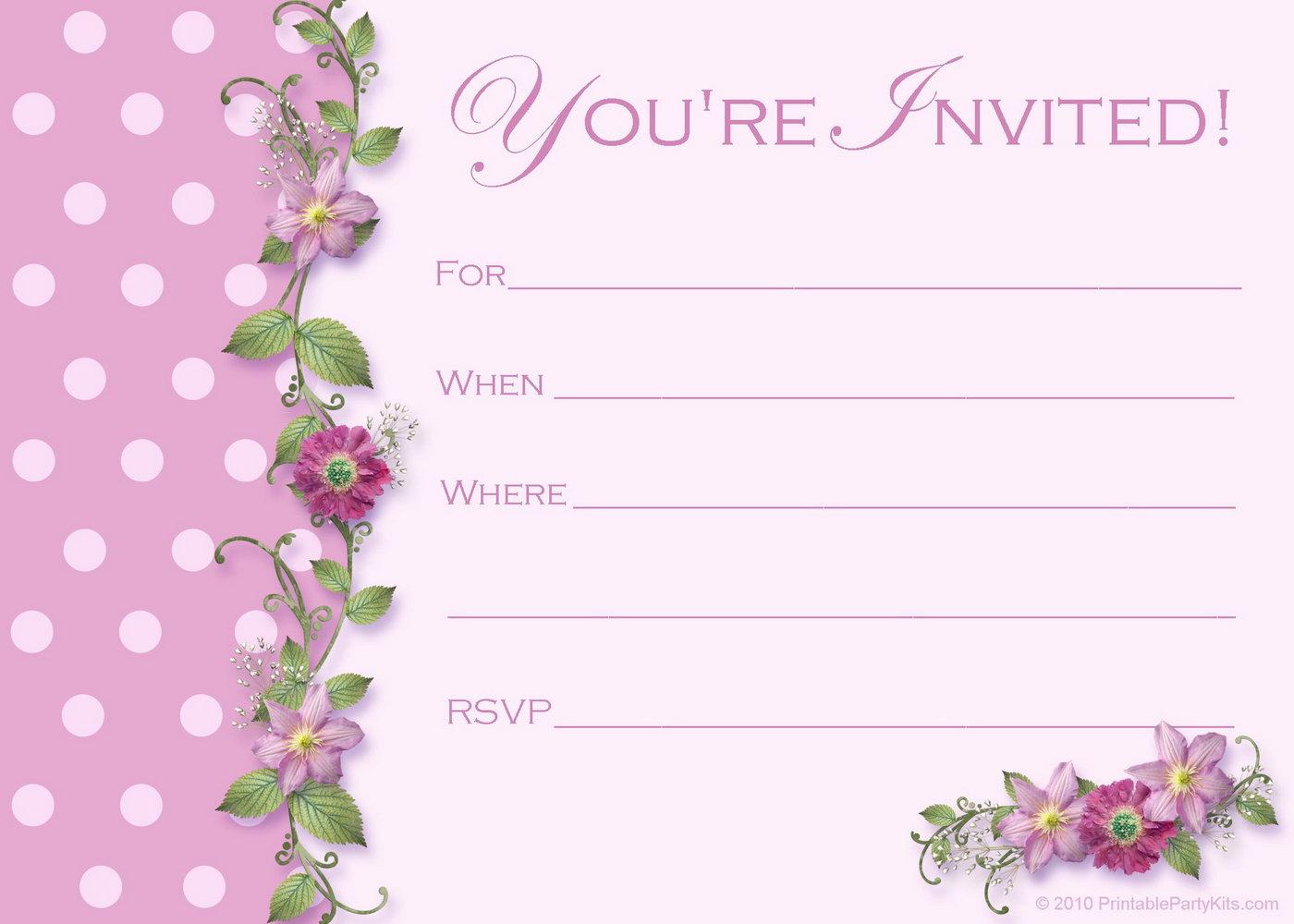 Downloadable Invitation Templates