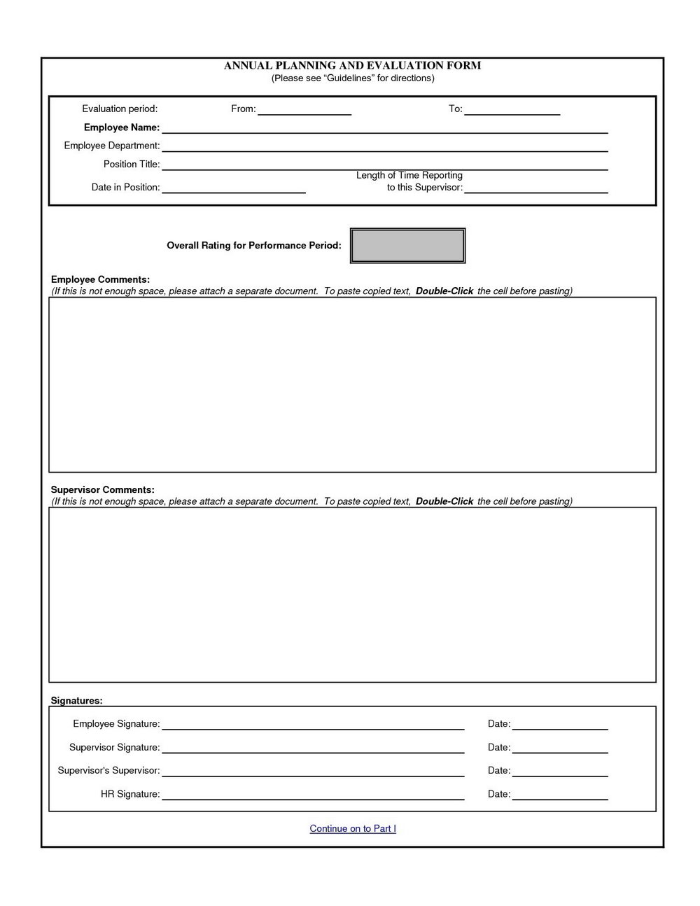 Employee Coaching Form Template
