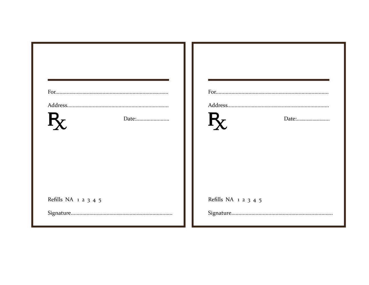Fake Prescription Pad Template