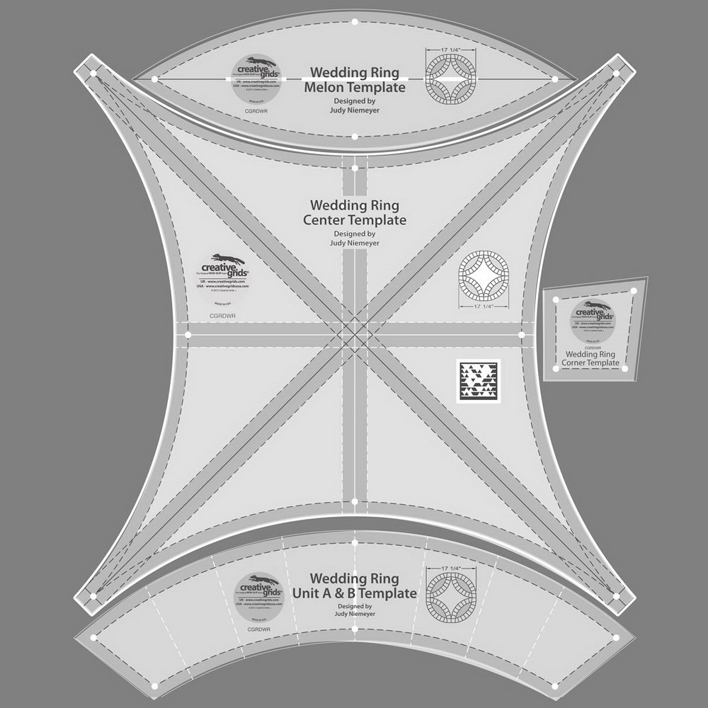 Free Double Wedding Ring Quilt Pattern Templates