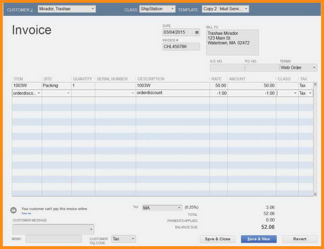 Free Quickbooks Templates Download