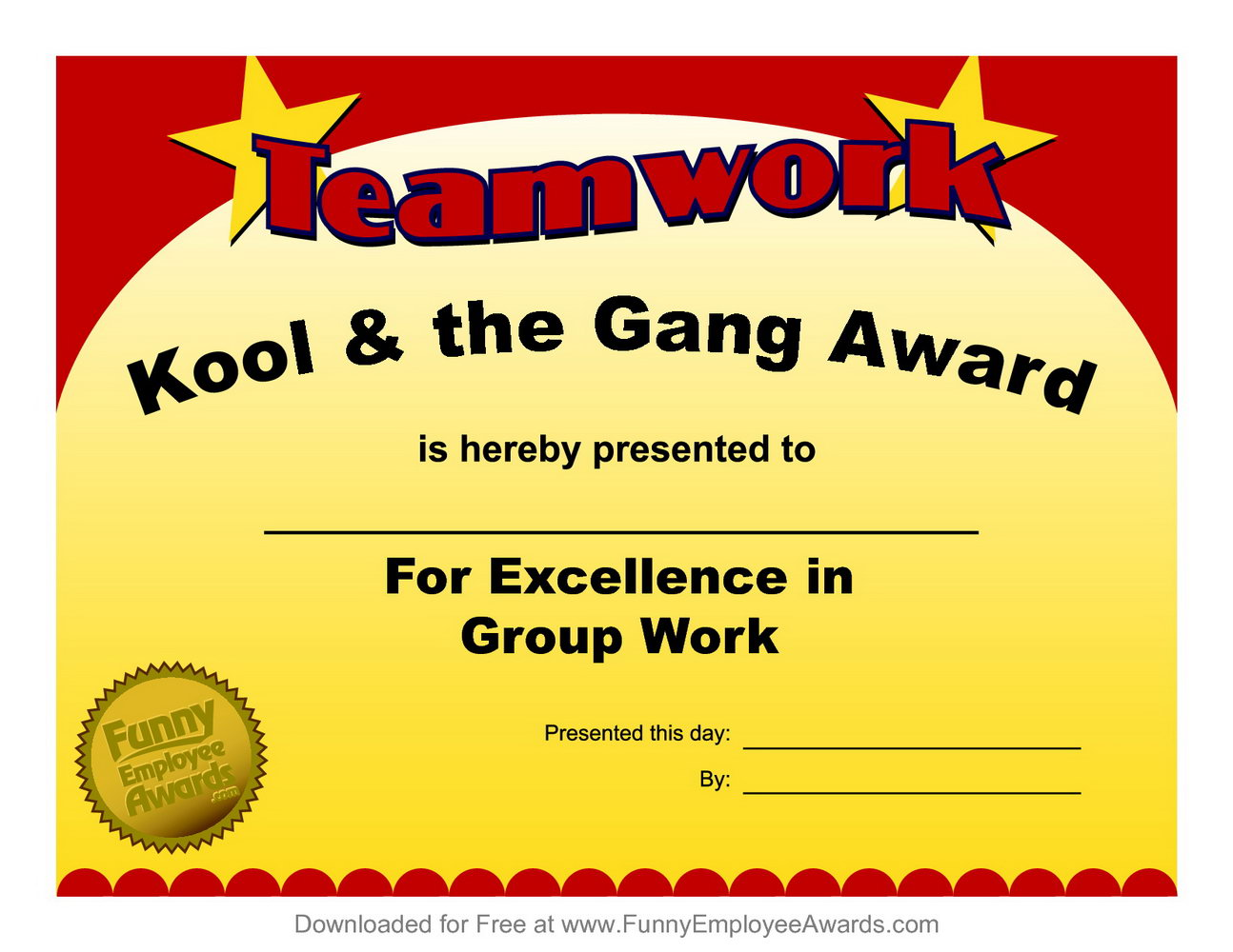 Funny Award Certificates Templates Free