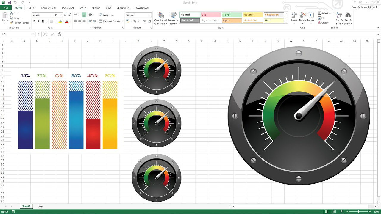 Excel Gauge Chart Template Free - Templates #24784 | Resume