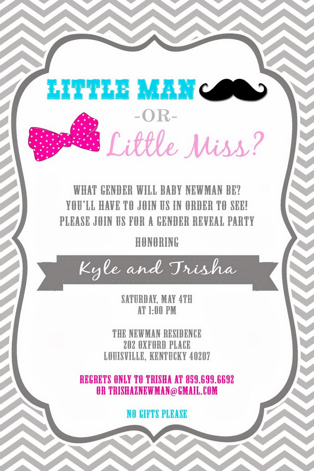 Gender Reveal Invite Template Free