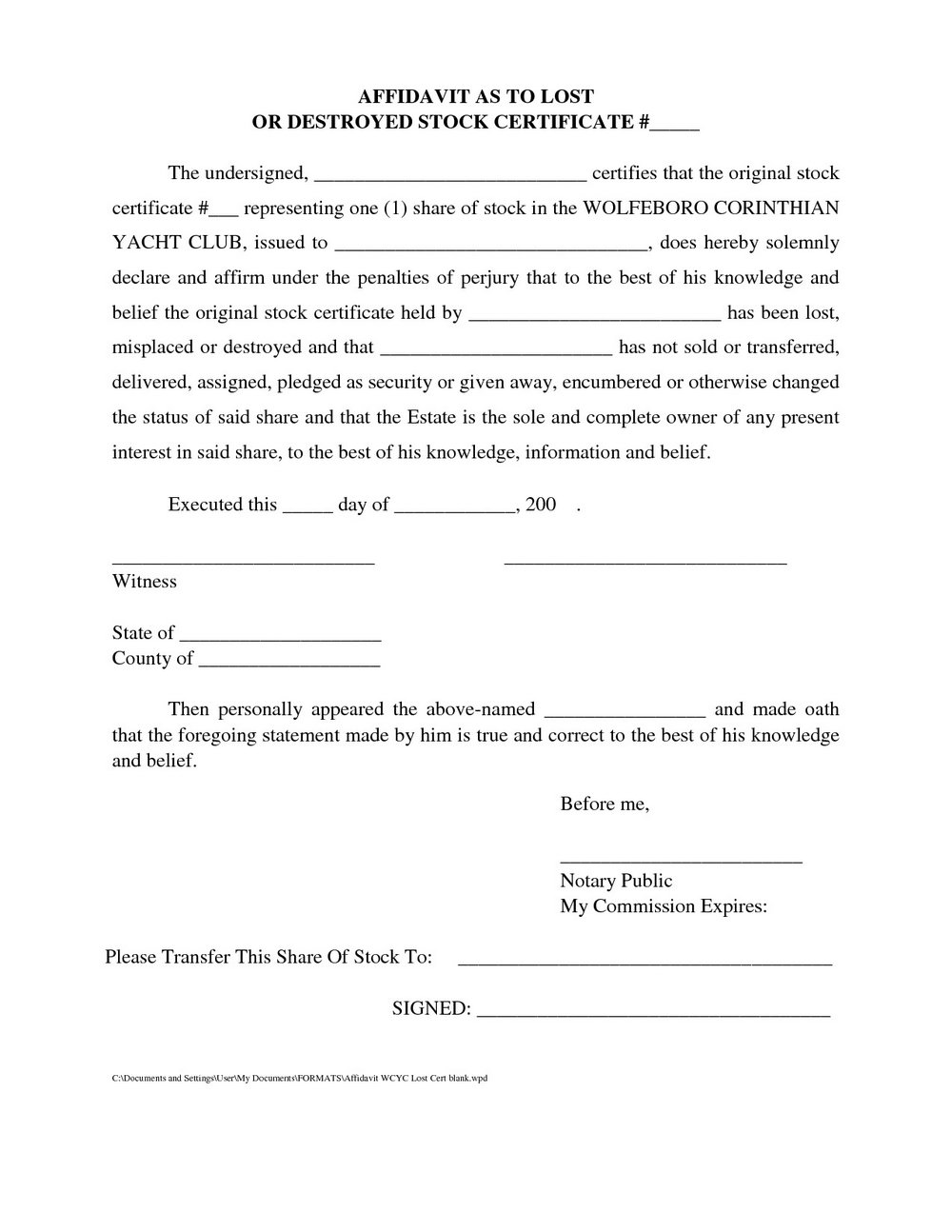General Affidavit Template Qld - Templates #24838 | Resume