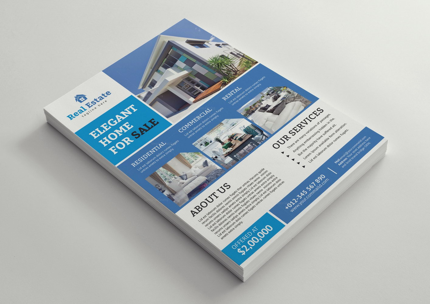 Luxury Real Estate Brochure Templates