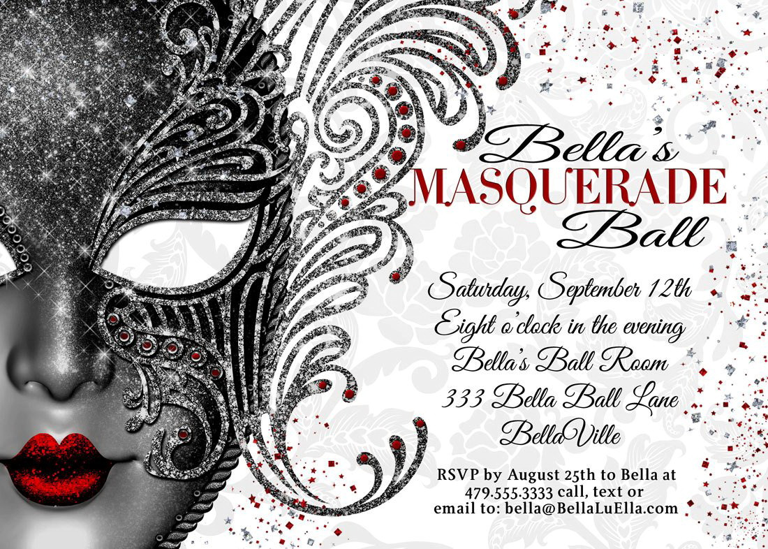 Masquerade Mask Invitation Template