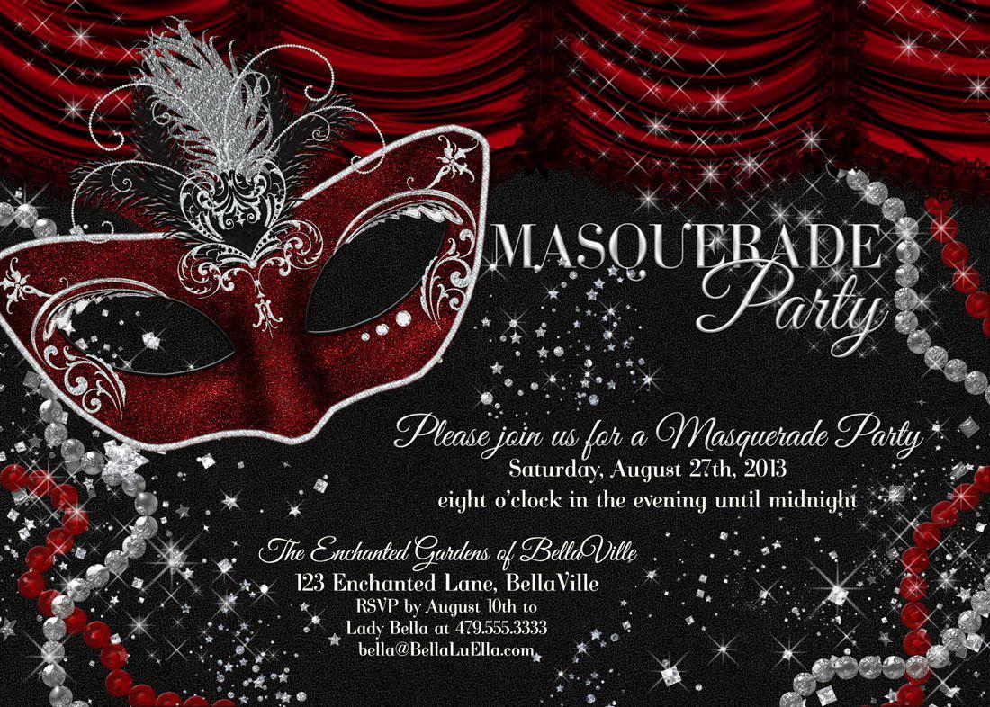 Masquerade Party Invitation Template