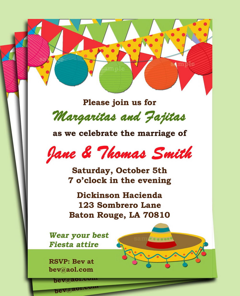 graphic regarding Free Printable Fiesta Invitations referred to as Mexican Fiesta Invitation Template Totally free - Templates #27104