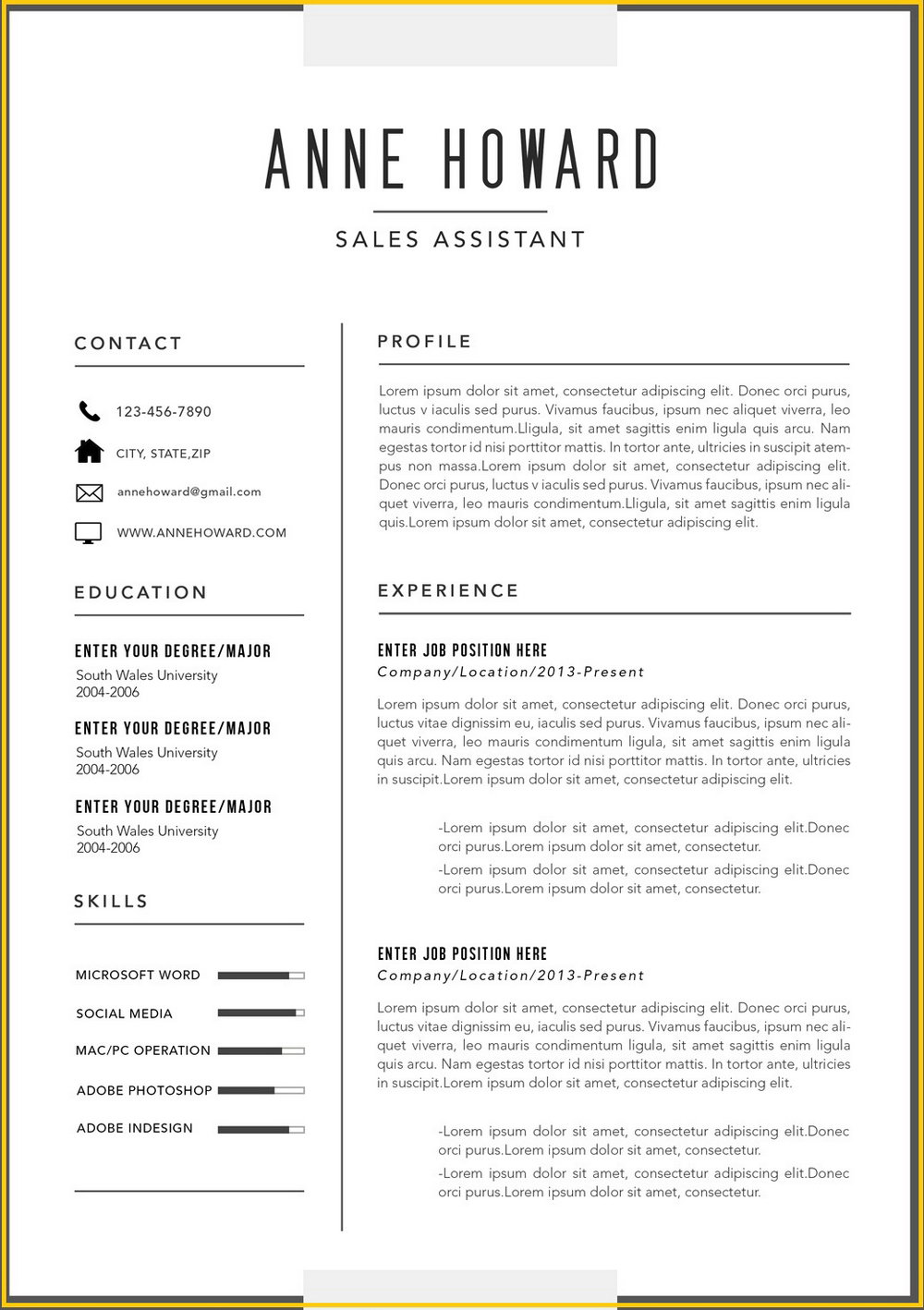 Modern Downloadable Resume Template