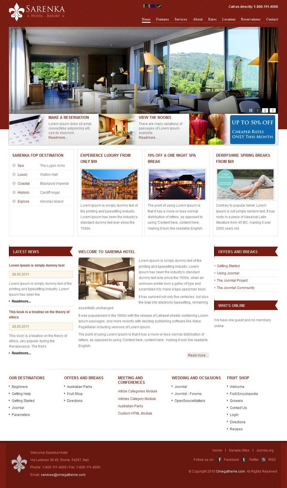 Motel Website Template