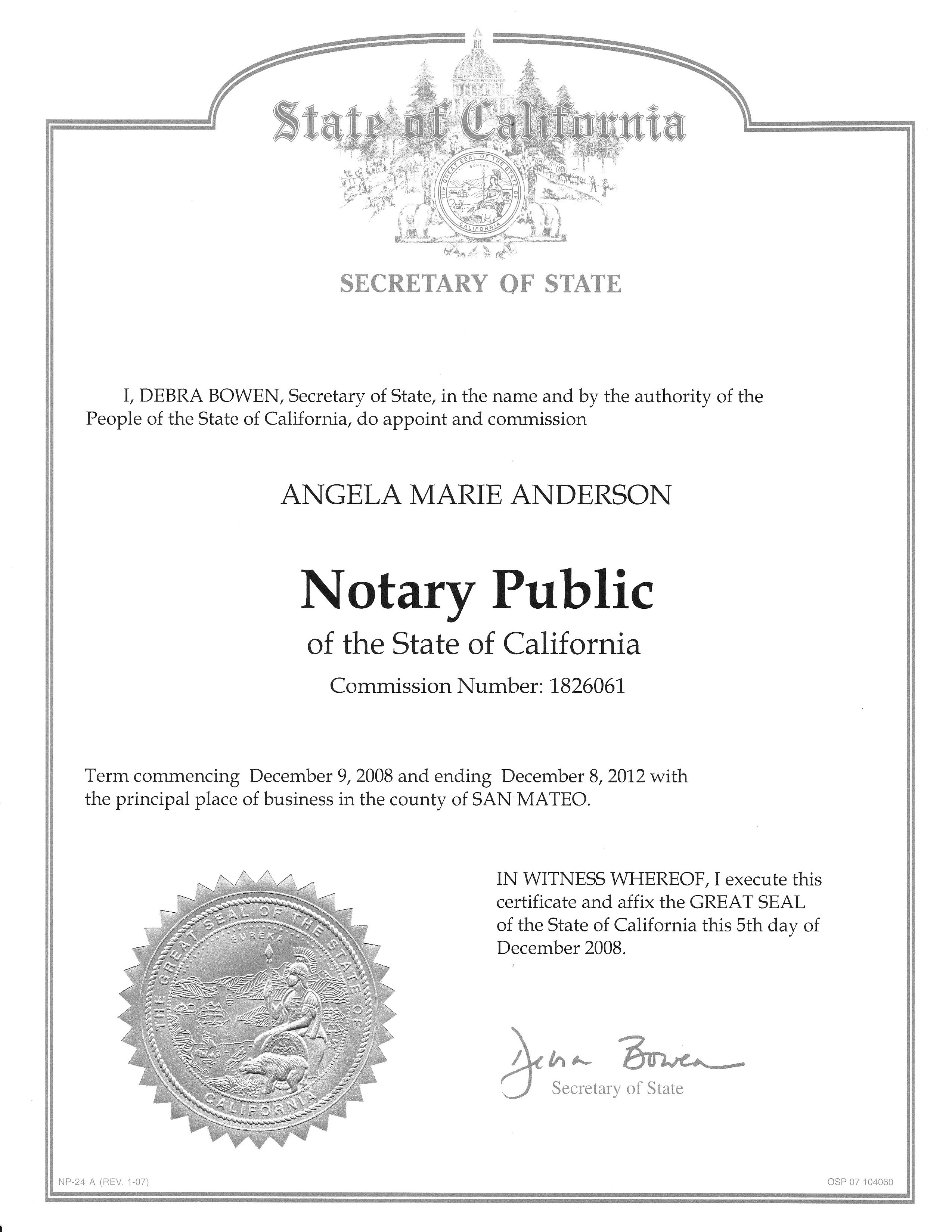 Notary Public Flyer Template