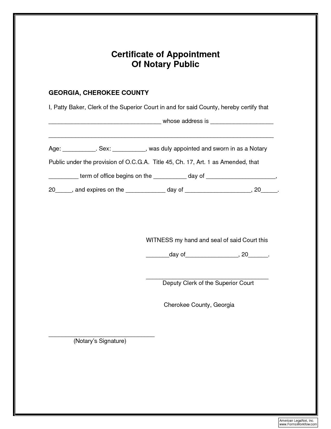 Notary Public Letter Template