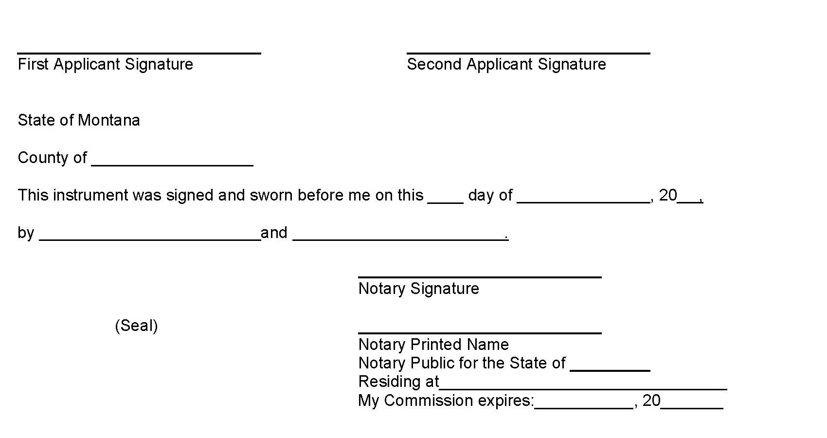 Notary Public Signature Template
