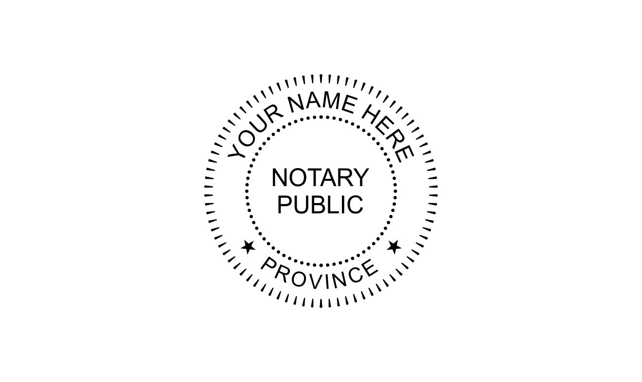Notary Public Stamp Template