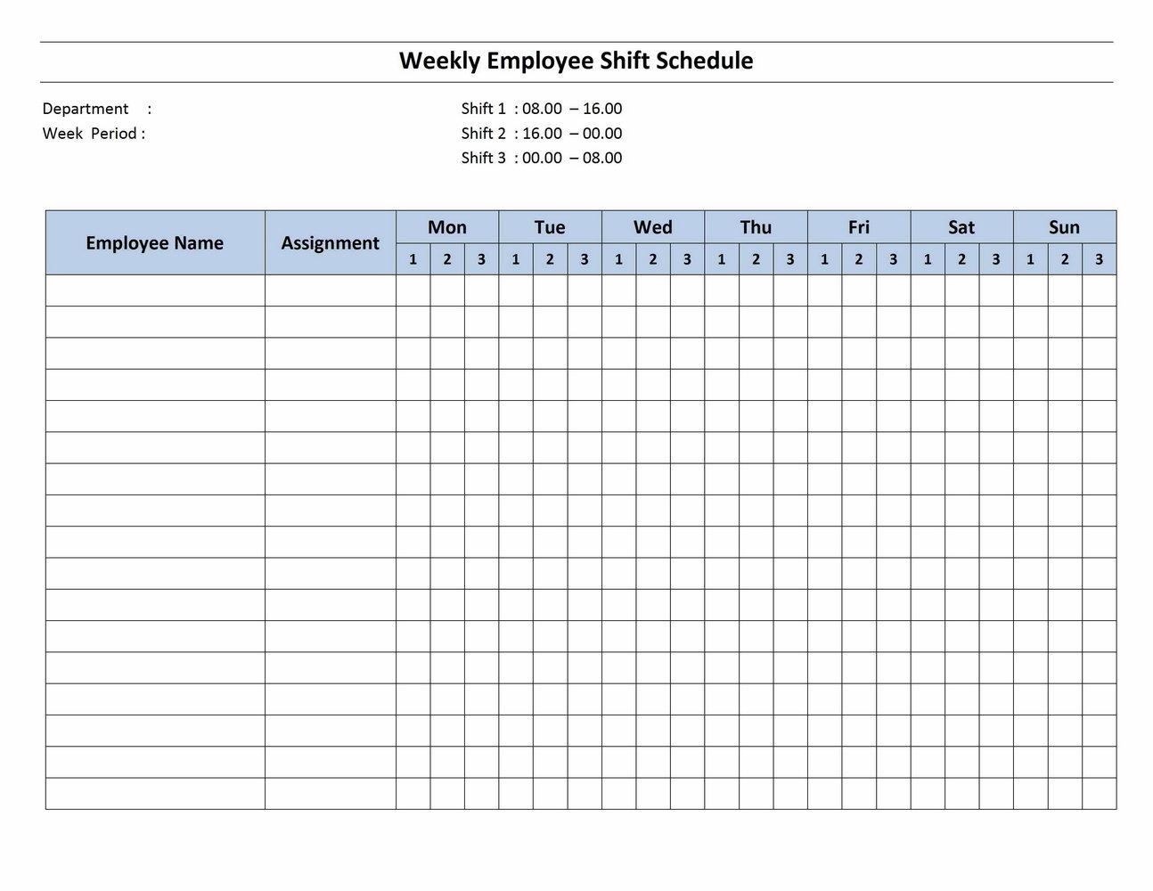 Nursing Schedule Templates