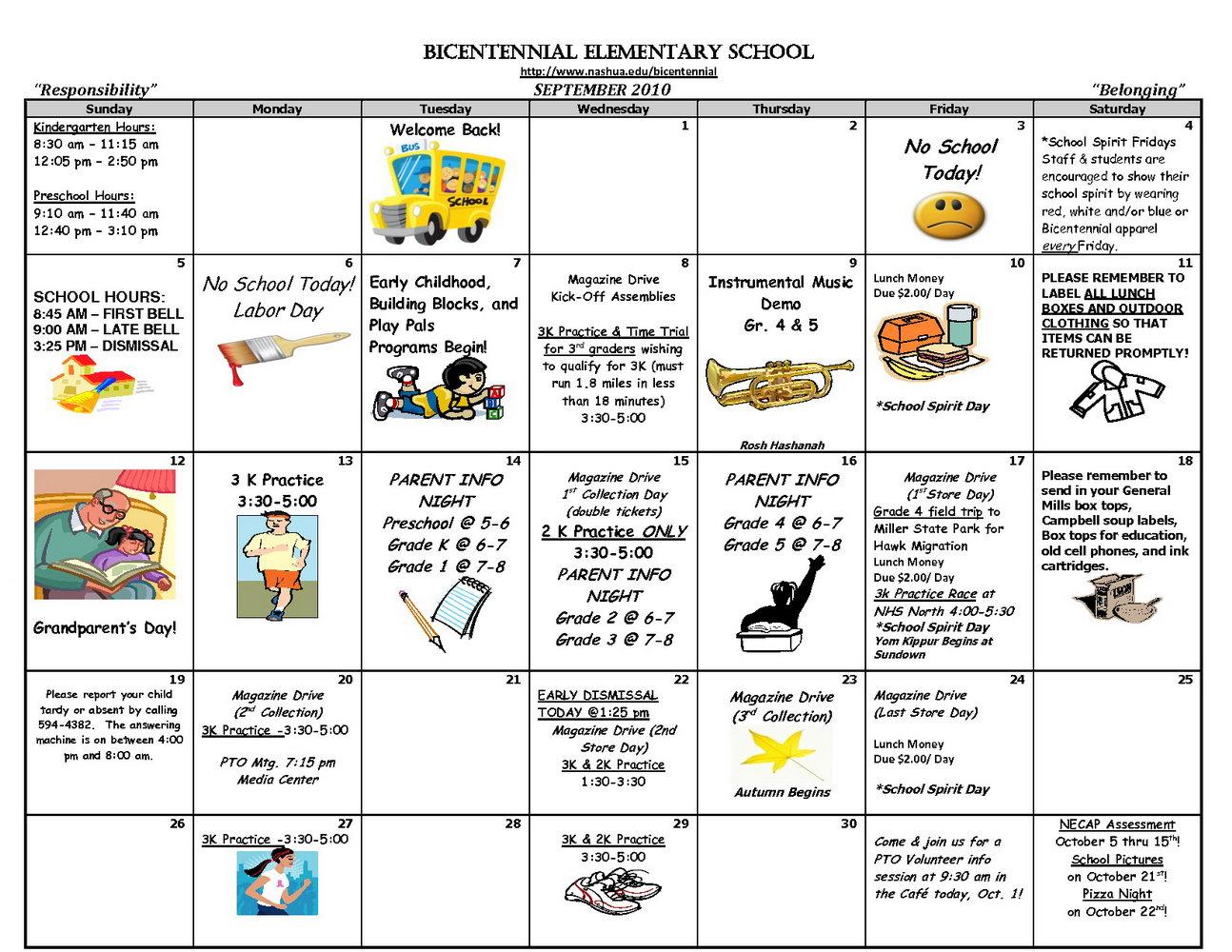Preschool Classroom Schedule Template