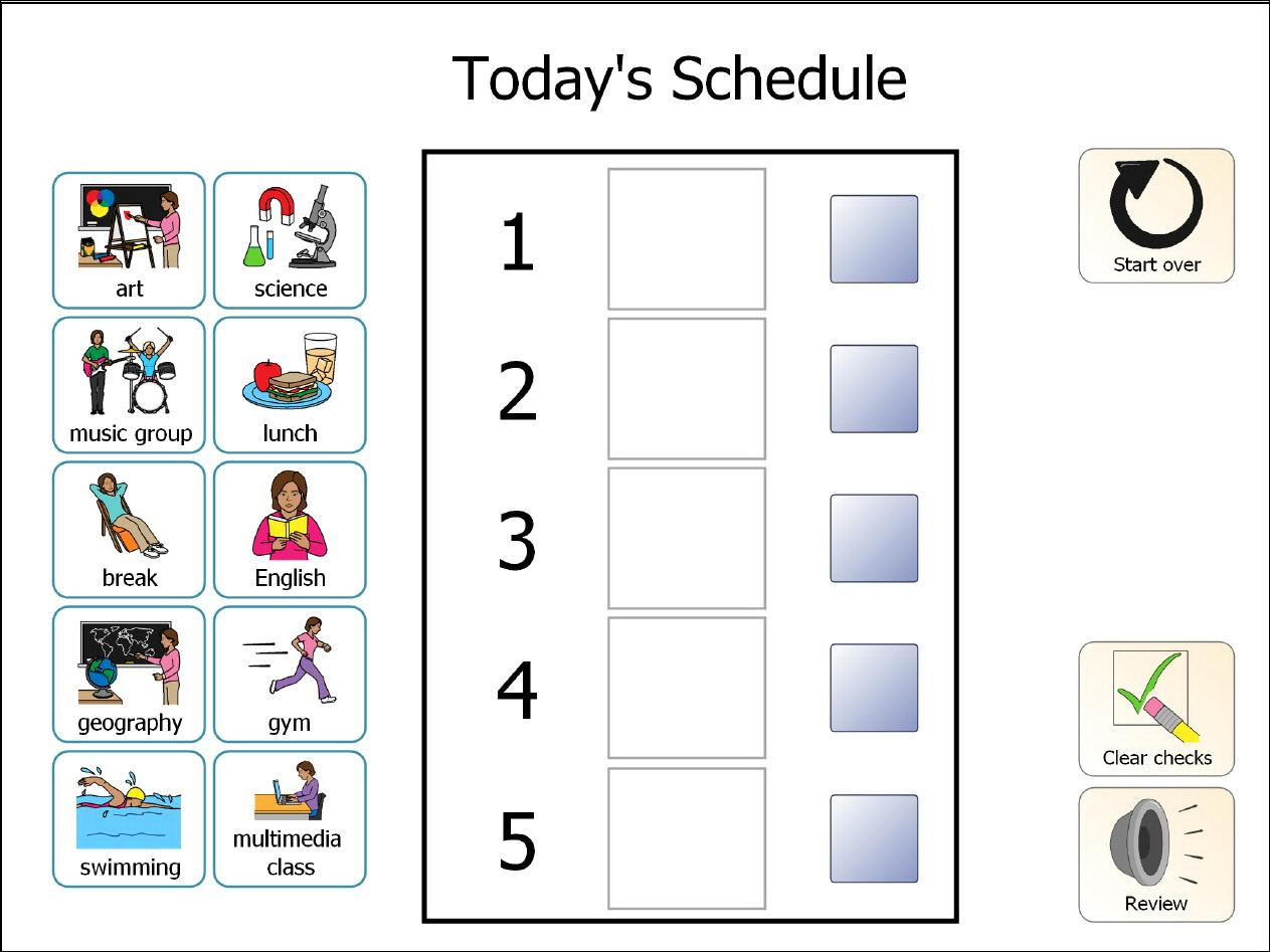 Preschool Visual Schedule Template