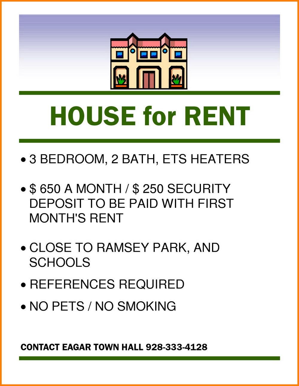 Rental Property Flyer Template