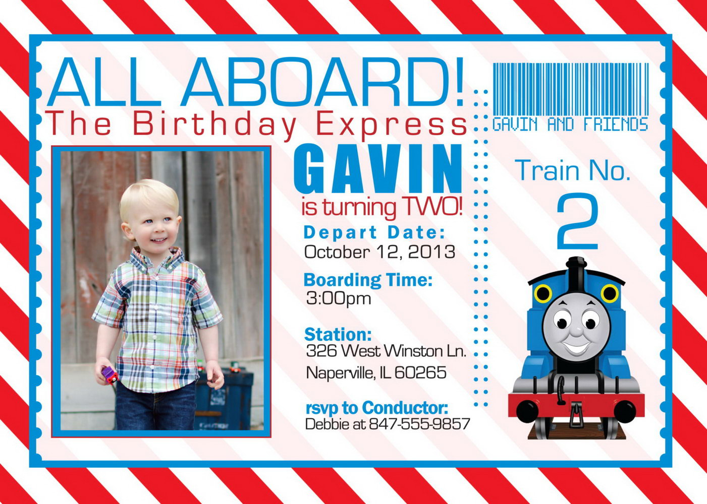 Thomas The Train Invitation Template Free