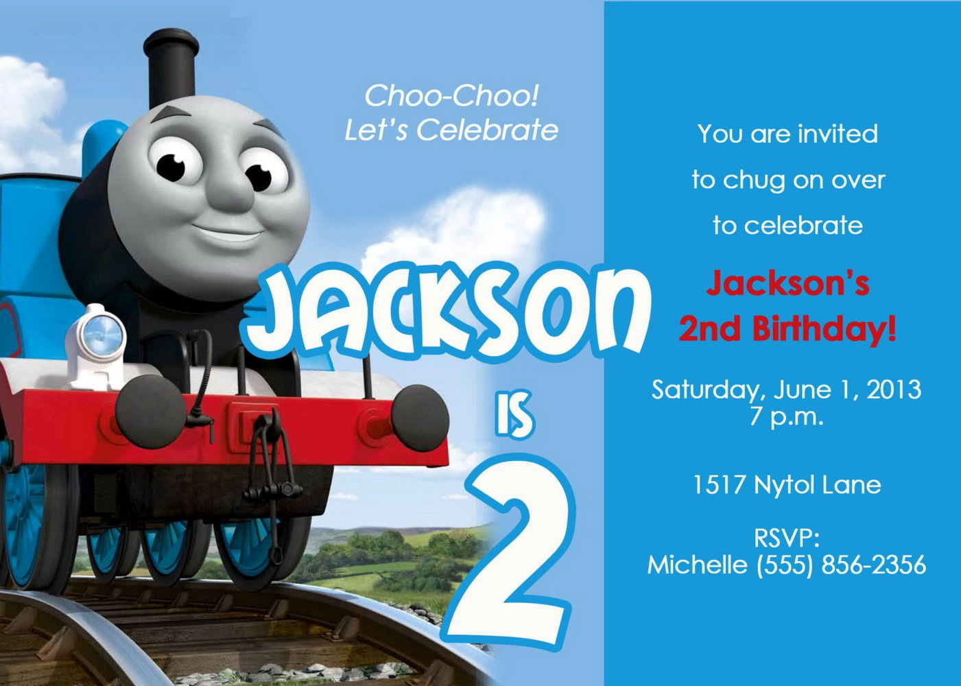 Thomas The Train Ticket Invitation Template