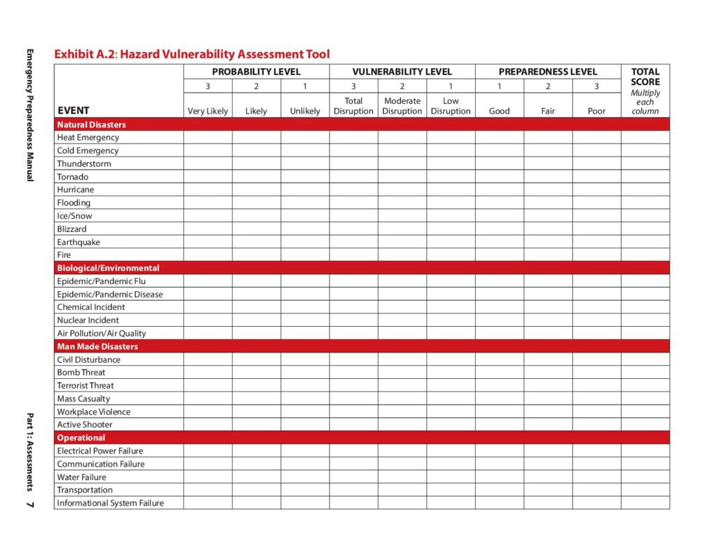 Threat And Vulnerability Assessment Template