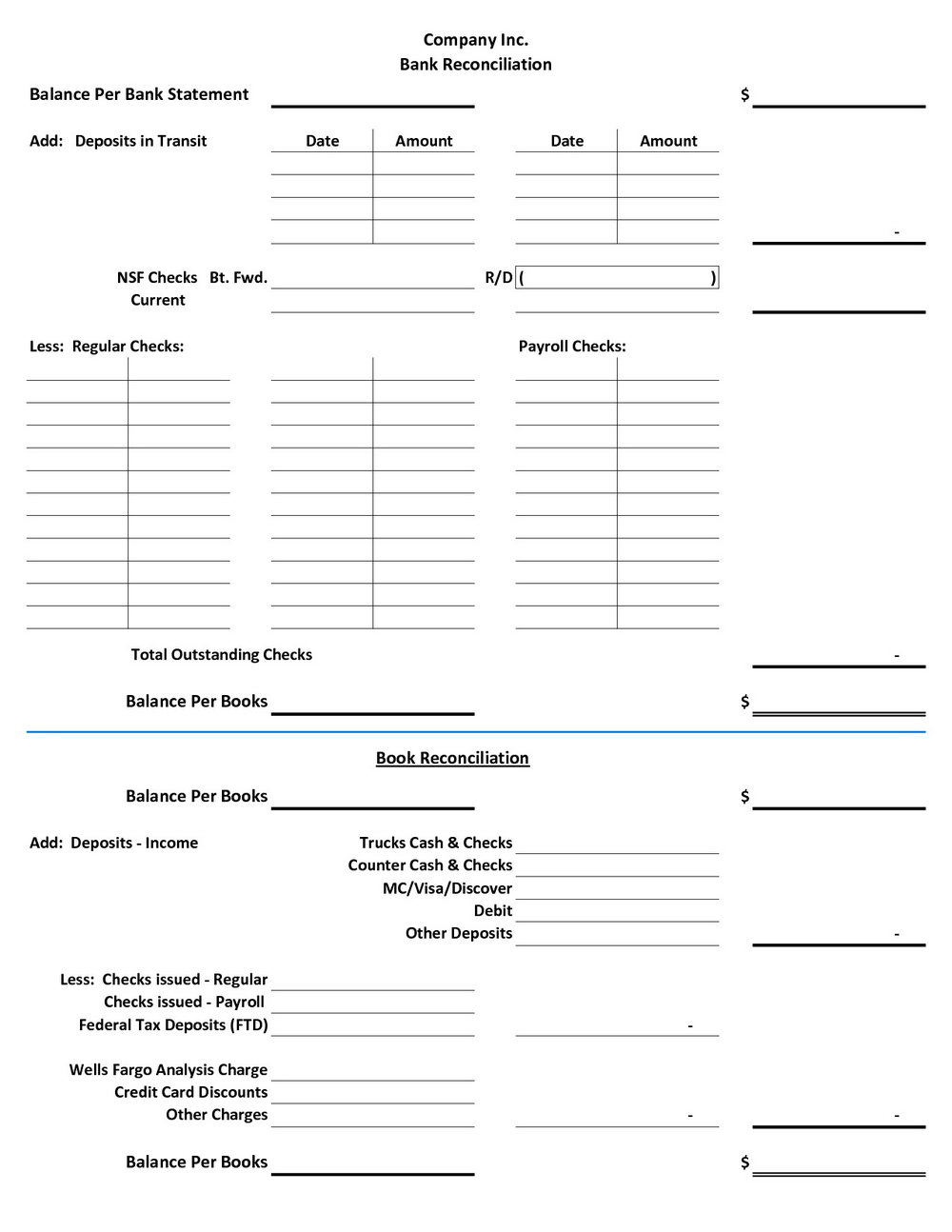 Trust Account Reconciliation Template