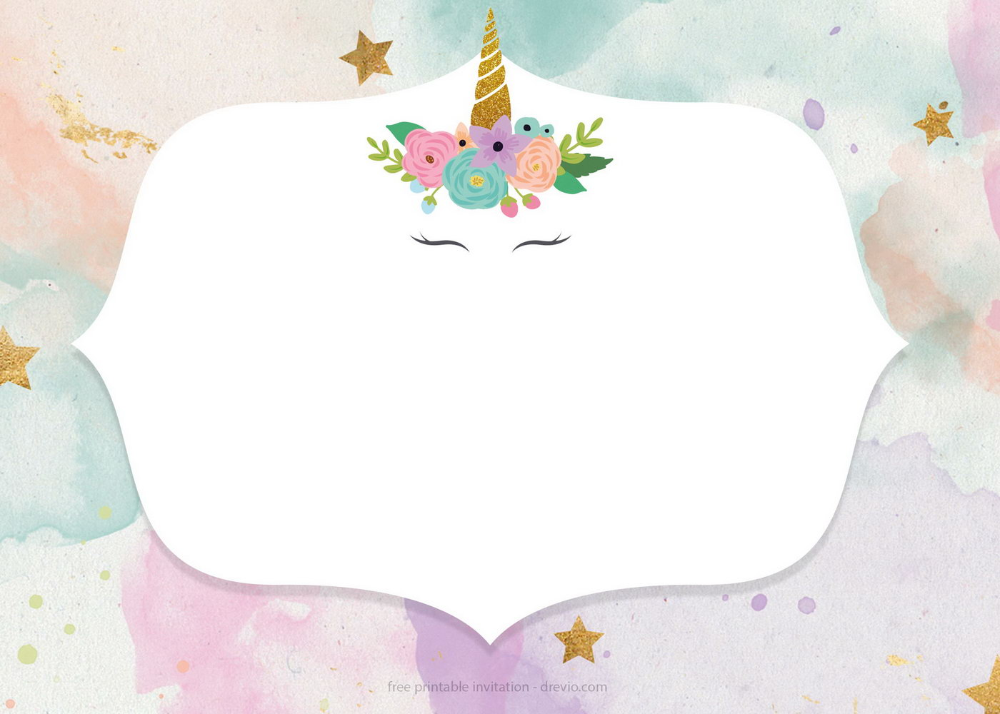 Unicorn Birthday Invitation Templates Free