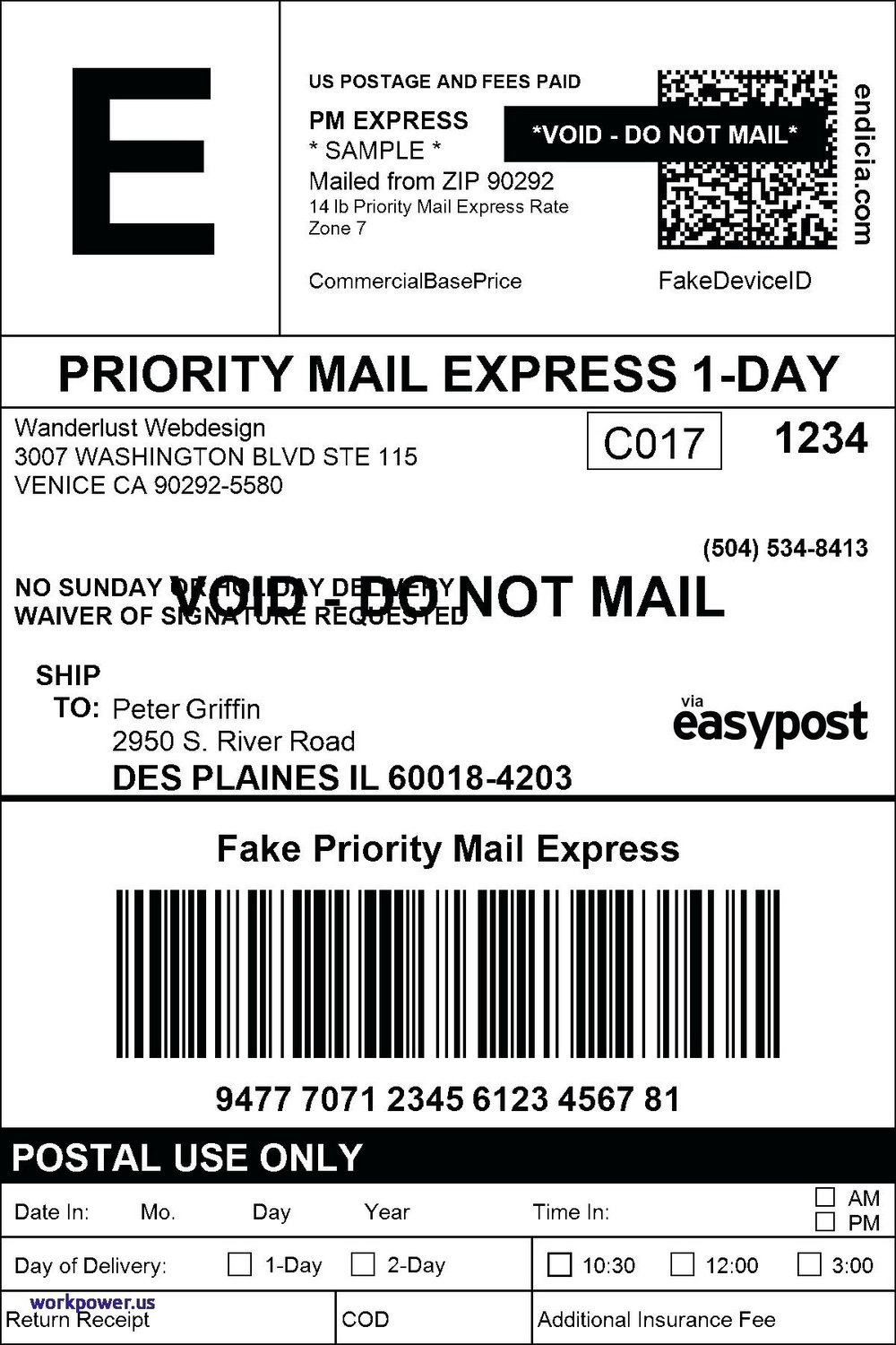Ups Label Template