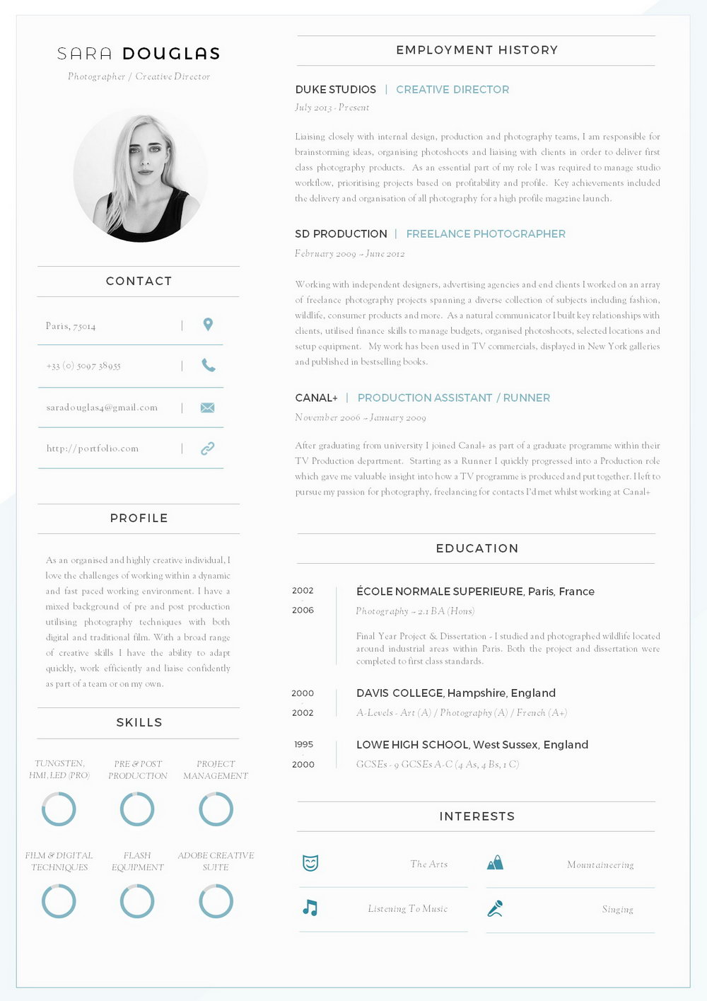 Word Document Downloadable Resume Template