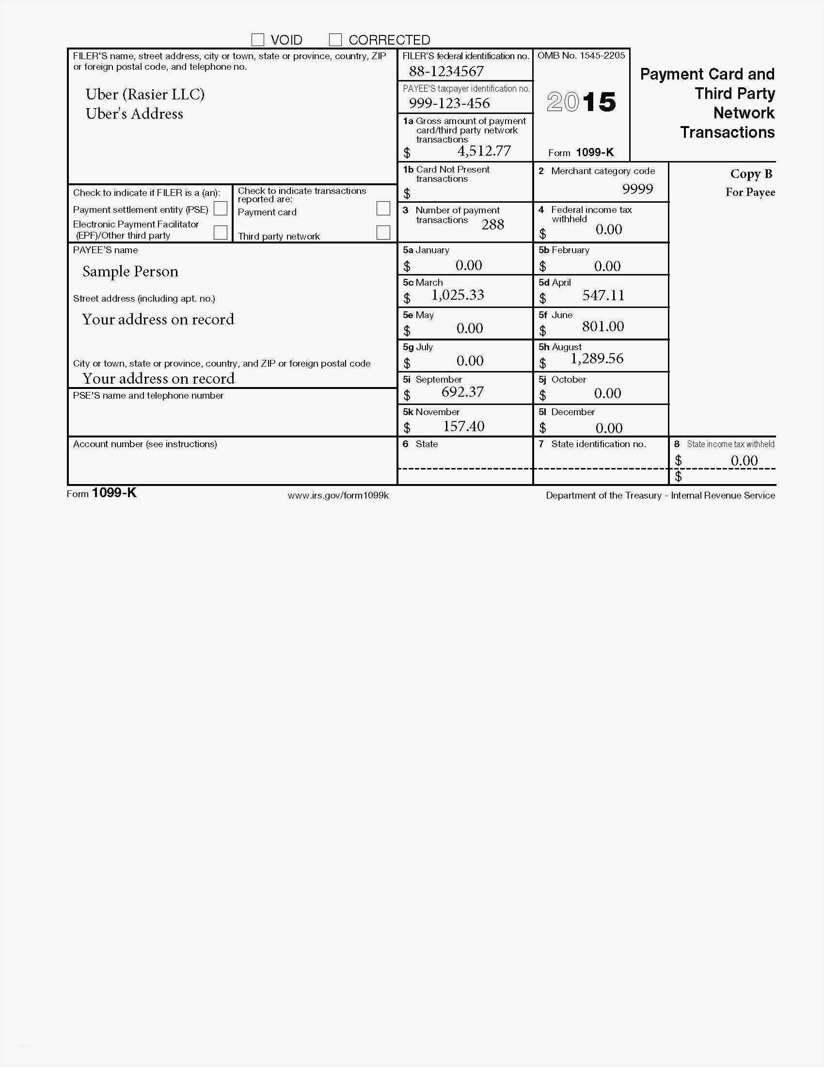 1099 Misc Form 2015 Template Free