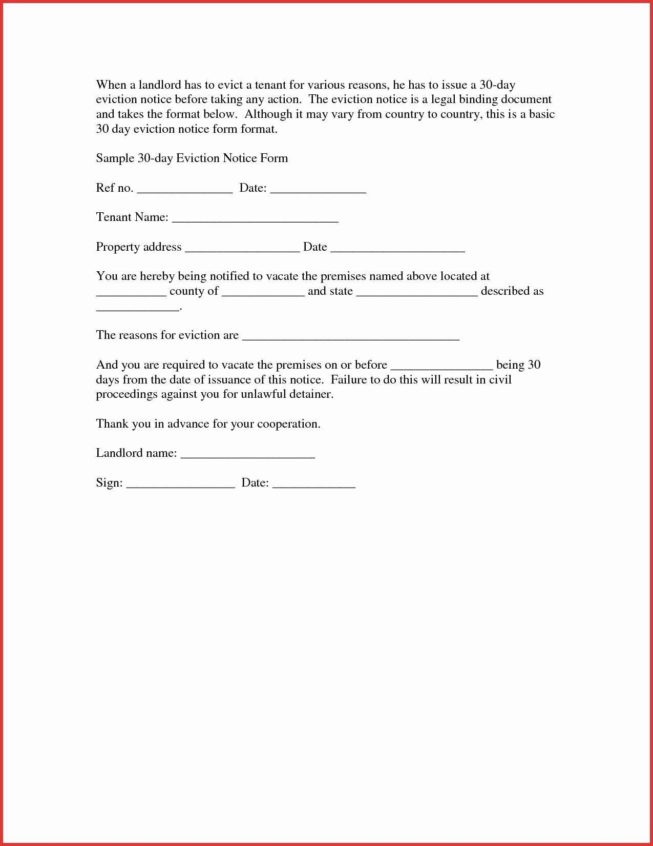 30 Day Eviction Notice California Template