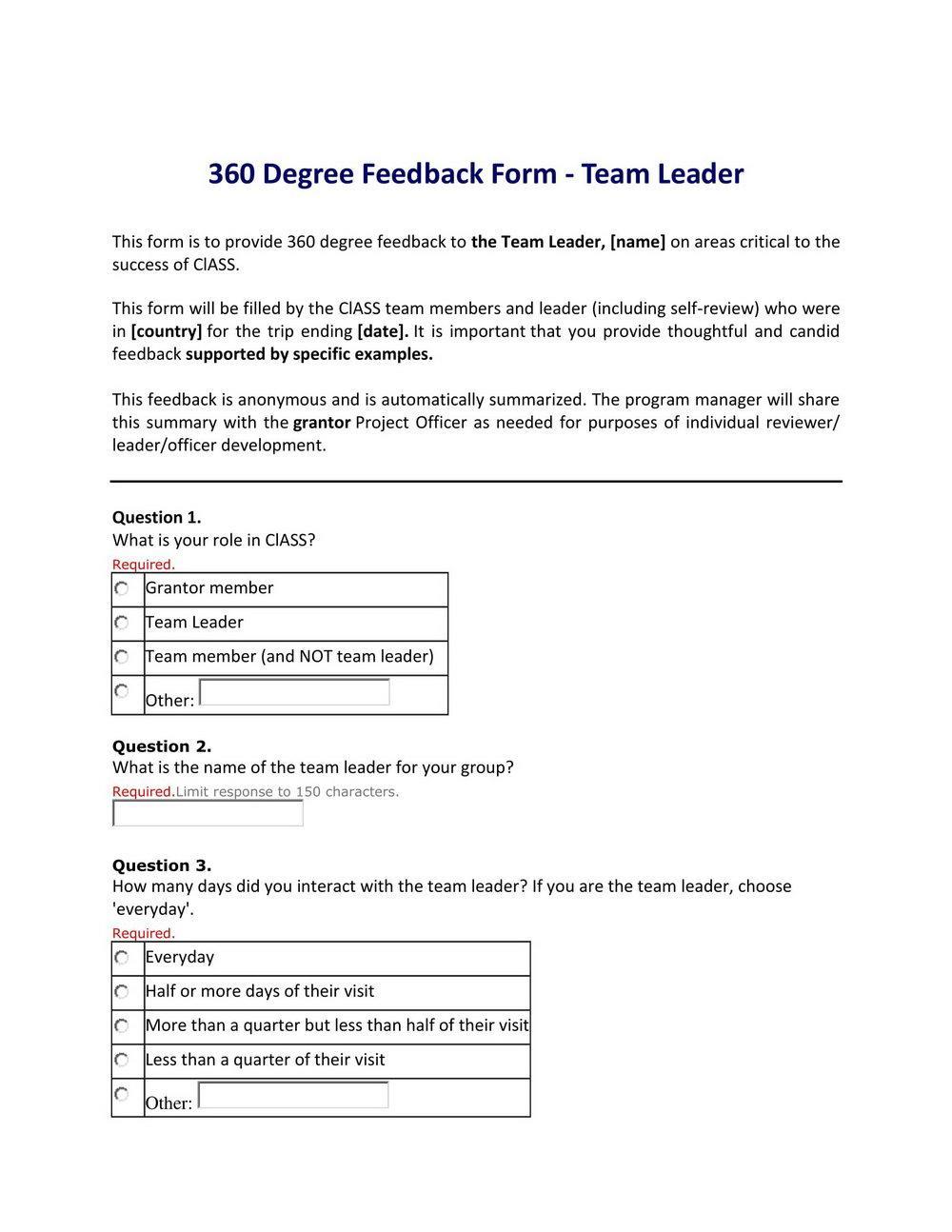 360 Feedback Template Pdf